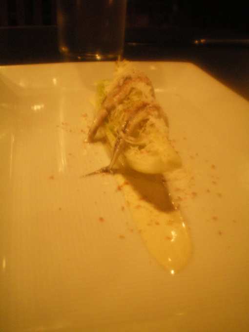 romaine hearts, white anchovy, bottarga, caesar dressing